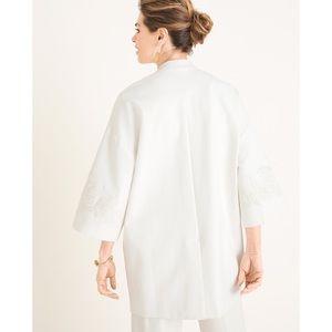 Chico's Jackets & Coats - NWT Chico's Lace-Appliqué Jacket Sz Small